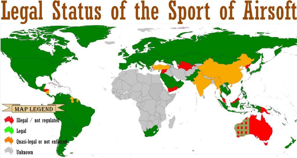 サバゲー 世界地図