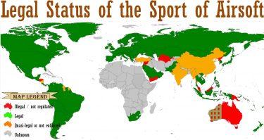 サバゲーが禁止の国、合法の国