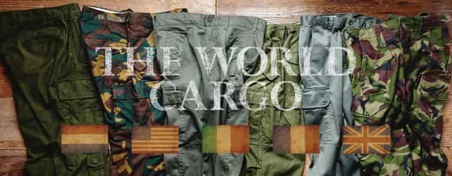 世界5か国の当時の軍服のカーゴパンツを再現した『THE WORLD CARGO』ライトオンから発売