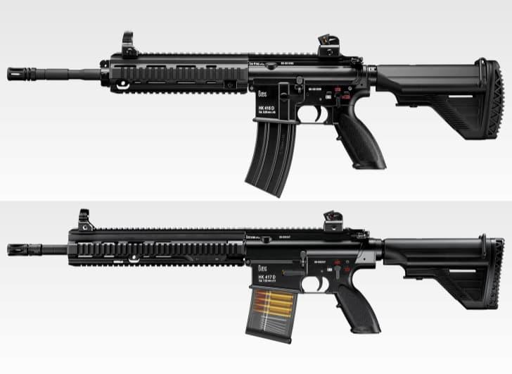 HK416とHK417の実銃・エアガンの違い